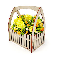 Laser Cut Wooden Fence Flower Basket Free Vector Cdr Download 3axis Co