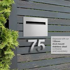 Milkcan Fence Mount Letterbox 304 Stainless Mailbox Wall Timber Picket Fence Ebay Letter Box Design Name Plate Design Modern Mailbox
