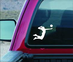 Volleyball Decal Volleyball Sticker Volleyball Vinyl Decal Volleyball Player Decal Volleyball Slam Decal