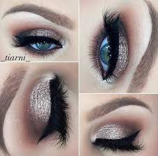 smokey eye for brides with blue eyes