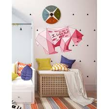 Shop Nursery Bear Polygonal Wall Decal Bear Polygon Modern Wall Art I Love You Sticker Overstock 31891678