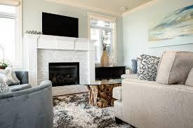 decorative white tile fireplace