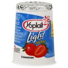 yoplait light yogurt strawberry fat free