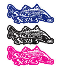 Fishing Decals Stickers Salty Scales