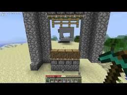 tutorial minecraft piston gate beta 1