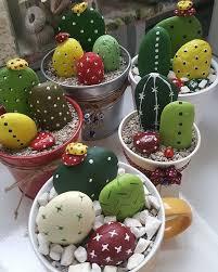 painted cactus rock garden easy