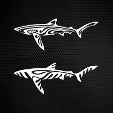 Simple Color Vinyl Shark Tribal Stickers Factory