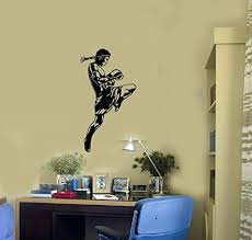 Amazon Com Boxer Vinyl Wall Decal Muay Thai Boxing Fighter Mma Sports Decor Stickers Mural And Stick Wall Decals Home Kitchen