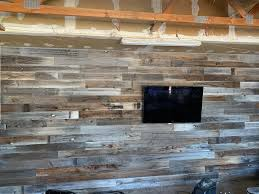 This Was My First Try At Shiplap Had A Friend Give Me His Old Fence Boards I Don T Think It Came Out To Bad For The Garage Woodworking