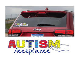 Spin Autism Acceptance Car Decal Red Dog Apparel Red Dog Glass