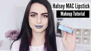 halsey mac lipstick makeup tutorial