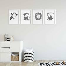 Jungle Animals Collection Nursery Or Kids Bedroom Art Prints Hayleylaurendesign