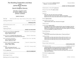 wedding program templates wedding