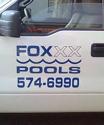 Fox Pools Truck Decals Ad Craft Signs