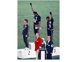 """Angelo Cozzi, """" Tommie Smith and John Carlos at the 1968 Mexican ..."""