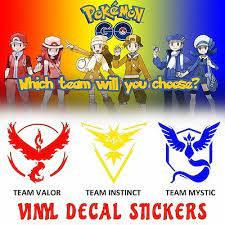 Vinyl Decal Looks Like Pokemon Go Game Team Mystic Instinct Valor Window Car Ebay
