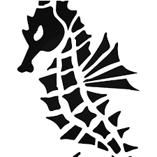 Tribal Seahorse Vinyl Decal Sticker
