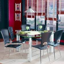 triangle glass top dining table set