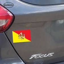 Hotmeini Car Styling 3d Car Sticker Sicilia Sicily Flag Decal Auto Tuning Moto Waterproof Skateboard Laptop 13cmx8 8cm Car Stickers Aliexpress