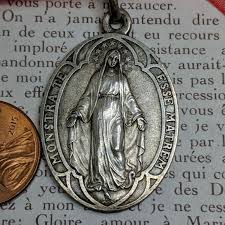 virgin mary miraculous medal pendant