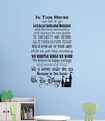 Sale In This House We Do Disney Wall Decals Letters For Cool Room Decor Black Wd590 34x20 Blk Sale