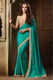 zoya silk party wear saree in teal