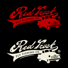 Red Truck Vinyl Decal Red Or Eggshell 8inch Red Truck Fly Fishing Co