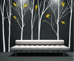 Amazon Com Designyours Tree Branch Tree Wall Decal White Tree Wall Decal Nursery Wall Decals Tree With Birds Tree Wall Decals For Living Room Baby