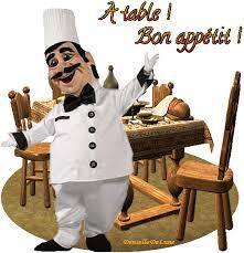 bon-appétit-a-table-gif-animé avec cuisinier danseur - les gifs animés de  dentelledelune