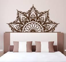 Half Mandala Headboard Wall Decal Headboard Decal Bedroom Etsy