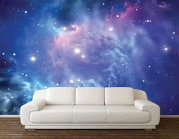 Custom 3d Photo Wallpaper Fantasy Galaxy Space Wall Decoration Poster Art Removable Wall Mural Wall Stickers Wall Stickers Aliexpress