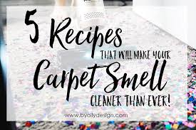 5 carpet freshener recipes will make