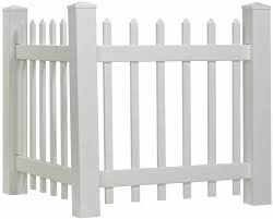 Amazon Com Outdoor Essentials Picket Accent Fence With Spade Shaped Cap 36 By 40 Inch Garden Outdoor