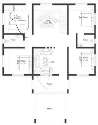 modern 3 bedroom one story house plan