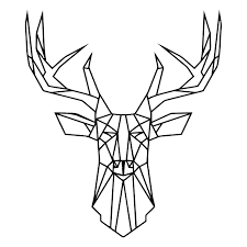 Amazon Com Geometric Deer Head Wall Decal Animal Vinyl Stickers Large Deer Decal Stylish Decor Geometric Animal Wall Art Horns Deer Art Home Decor Nl75 Handmade