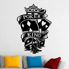 Casino Sticker Gambling Decal Gamble Posters Vinyl Wall Decals Parede Decor Mural 19 Color Choose Casino S Kids Room Wall Decor Kids Room Wall Nursery Wall Art
