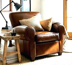 leather pottery barn recliner lansing