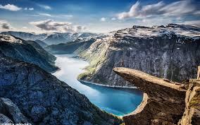 nature landscape mounn jumping
