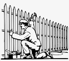 Picket Fence Gate Garden Chain Link Fencing Building A Fence Clipart Free Transparent Png Download Pngkey