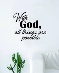 With God V2 Quote Wall Decal Sticker Bedroom Room Art Vinyl Home Decor Boop Decals