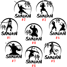 Samurai Vinyl Decal Sticker Car Window Decor Wall 武士 Warrior 侍 Japan Army Art 武家 Ebay