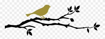 Woodland Bird On Branch Art Decal Bird Branch Wall Decal Vinyl Decal Car Decal Clipart 1942523 Pinclipart