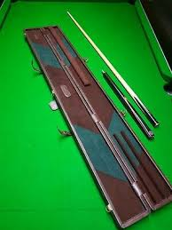pool snooker cue new real leather