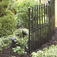 No Dig Empire 29 In X 38 In Black Powder Coated Steel Fence Panel Steel Fence Panels Steel Fence Decorative Fence Panels