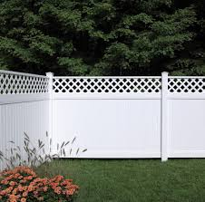 Bufftech New Lexington W Lattice Accent Vinyl Fence Section