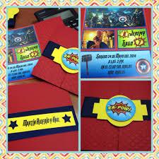 Party Avengers Invitaciones Fiesta De Los Vengadores