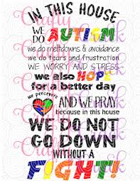 In This Home We Do Autism Svg Dxf Png Digital Download For Silhouette Studio Cricut Design Space Crafty Crack
