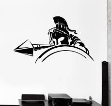 Wall Decal Spartan Warrior Spear Attack Knight Shield Army Vinyl Stick Wallstickers4you