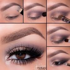 applying eyeshadow for brown eyes
