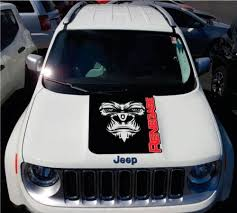 Product 2 Color Hood Jeep Renegade Yeti Bigfoot Sasquatch Logo Graphic Vinyl Decal Suv Motorrad